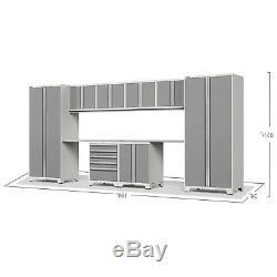 10PC Warehouse Steel Cabinet Set Workshop Garage Storage Organizer Furniture