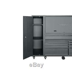 10-Drawer Deep Combination Tool Chest and Rolling Cabinet Set (3-Piece)