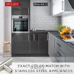 25750pcs 5 Stainless Steel Kitchen Door Drawer Cabinet Handles T Bar Pulls @OY