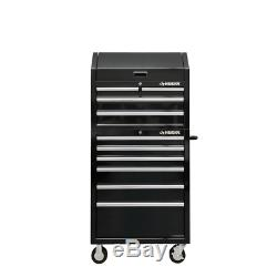 30 in. W 10-Drawer Deep Combination Tool Chest and Rolling Cabinet Set in Gloss