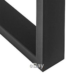 31.4X28.3A Pair Table Leg Square Black Steel Sofa Cabinet Industrial Set of 2