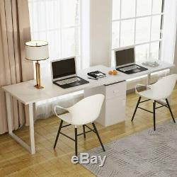 55'' Rotating L-Shape Corner Computer Desk PC with File Cabinet Office Table LX