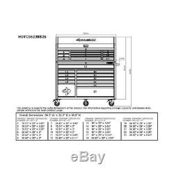 56 in. 23-Drawer Tool Chest and Rolling Cabinet Set 18 Ga. Steel 22 in