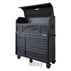 56 in. 23-Drawer Tool Chest and Rolling Cabinet Set 18 Ga. Steel 22 in. D, Textu