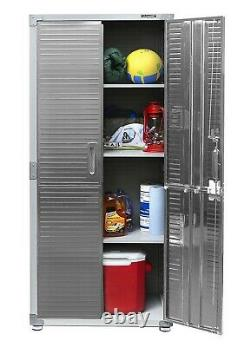 5 Piece Steel Storage Cabinet Set 2 Tall Cabinets 2 Wall with Work Bench