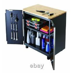 72 In. W X 98 In. H X 24 In. D Steel Garage Cabinet Set In Black (5-Piece)