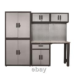 8 piece Torin Garage Fully Lockable Cabinet Combo Set FREE SHIP NEW
