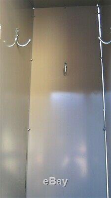 AURORA STEEL PRODUCTS locker set-8 cubicles-74.5Hx48Wx21Deep-lockable-sturdy
