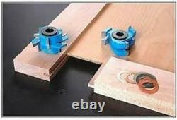 Adjustable Mission/shaker Style 2pc Rail & Stile Cabinet Door Router Bit Set For
