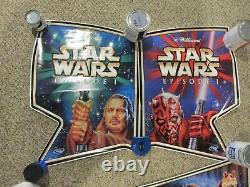 BRAND NEW Williams STAR WARS EPISODE 1 CABINET DECAL SET