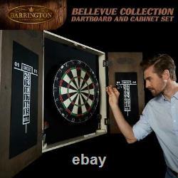 Barrington Bellevue Collection Bristle Dartboard Cabinet Set, Steel Tip Darts, B