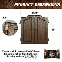 Barrington Premium Bristle Dartboard Cabinet Set with 6 Steel Tip Darts Indoor