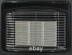 Black 4.2Kw Portable Heater Standing Heating Cabinet Butane Gas 3 Heat Settings