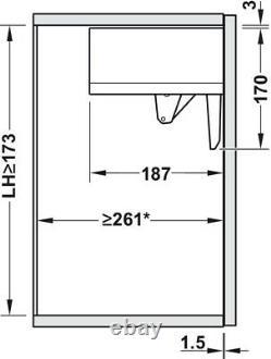Blum Aventos HK-TOP Lift Up Cabinet Hinge Set Easy Order Kit NEW & 3 COLOURS