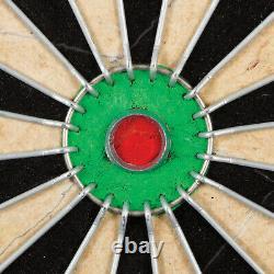 Bristle Dartboard Cabinet Set Self-Healing Sisal Board 6 Steel Tip Darts 18 Inch