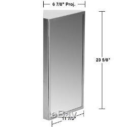 Brushed Stainless Steel Medicine Cabinet Corner Wall Mount Set of 2
