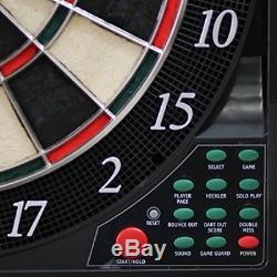 Bullshooter CricketMaxx 5 ELECTRONIC Dartboard WOOD Cabinet Steel Soft Darts SET