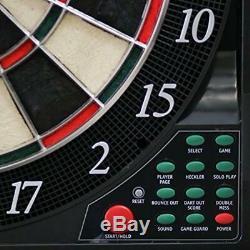 Bullshooter Cricket Maxx 5.0 Electronic Dartboard Cabinet Set Includes 6 Steel &