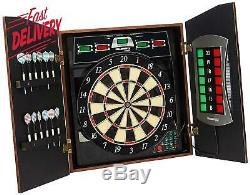 Bullshooter Cricket Maxx 5.0 Electronic Dartboard Cabinet Set Includes 6 Steel T