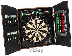 Bullshooter Cricket Maxx 5.0 Electronic Dartboard Cabinet Set Includes 6 Steel T