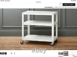 CB2 office set desk filing cabinet cart, used