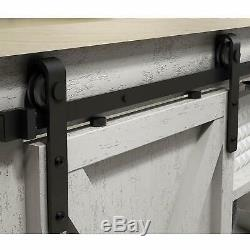 Cabinet Sliding Barn Door Hardware Track Kit Easy Install Slide Smoothly Quietly