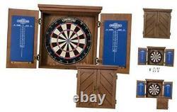 Charleston Bristle Dartboard Cabinet Set Includes 18 Dartboard and 6 Steel