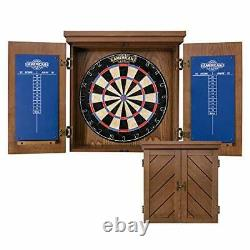Charleston Bristle Dartboard Cabinet Set Includes 18 Dartboard and 6 Steel T