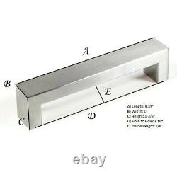 Contemporary Stainless Steel Cabinet Bar Pull Handle Set of