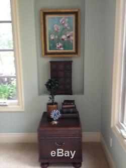 Custom One-of-a-kind Alligator Skin Desk Set, Chair, Printer Cabinet, File Cabin
