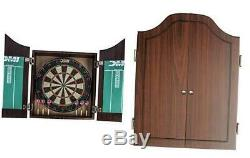DMI Sports Deluxe Bristle Dartboard Cabinet Set Includes Two Steel Dart Sets wit