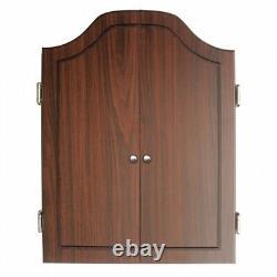 Dartboard Cabinet Set with Rustic Wood Finish. DMI. Brand New