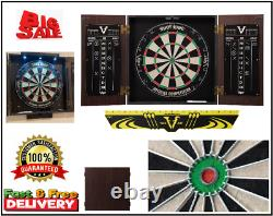 Dartboard Cabinet Wood Box Shot King Sisal Dartboard Two Set 6 Steel-Tip Darts