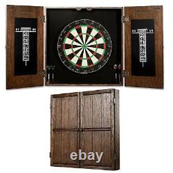 Dartboat Cabinet Set Wood Professional Home Game Steel Tip Darts Kids Adults