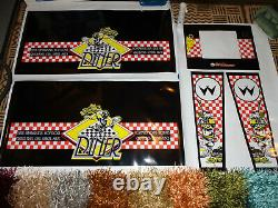 Diner pinball brand new cabinet 5 pieces decal set