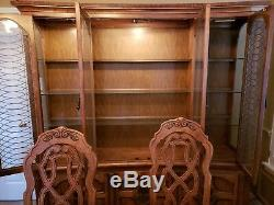 Dining room set with bar and china cabinet