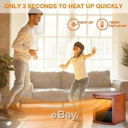 Electric Space Heater -1500W Infrared Heater with 3 Heat Settings, Remote Contro