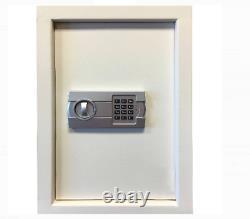 Electronic Wall Safe Handguns Jewelry Cash Locker Safebox Durable Steel Beige