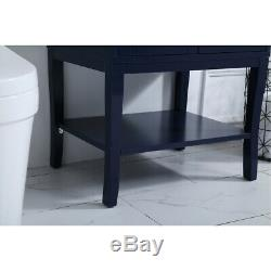 Elegant Lighting VF2101MRBL Mason Blue Vanity Sink Set