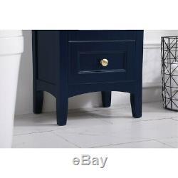 Elegant Lighting VF2218BL Saturn Blue Vanity Sink Set