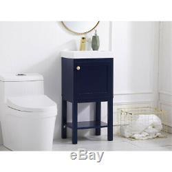Elegant Lighting VF2518BL Mason Blue Vanity Sink Set