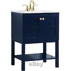 Elegant Lighting VF2524BL Mason Blue Vanity Sink Set