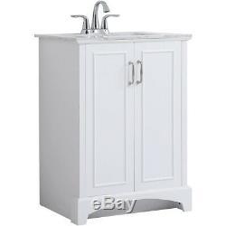 Elegant Lighting VF90624WH Hampson White Vanity Sink Set