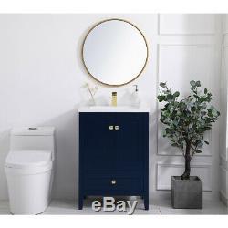 Elegant Lighting VF-2001BL Aqua Blue Vanity Sink Set