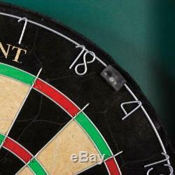 Fiber Dart Board Sports Derbyshire Bristle East Point Deluxe Steel Cabinet Set