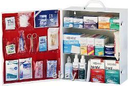 First Aid Cabinet 3-Shelf Heavy Duty Steel Wall Mount Industrial Work Settings