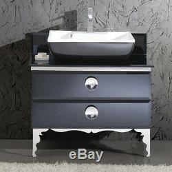 Fresca FCB7712-V Moselle 35-1/5 Free Standing Vanity Set with Steel Cabinet, Gl