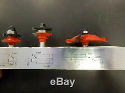 Freud 3 Piece Premier Adjustable Cabinet Router Bit Set (1/2 Shank) (97-204)