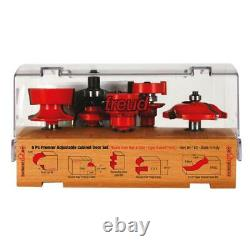 Freud-94-150 5 piece Premier Adjustable Cabinet Bit Set