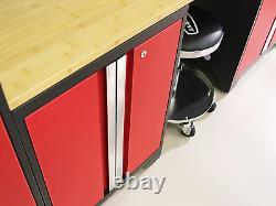 Garage Cabinets Red 7 Piece Set
